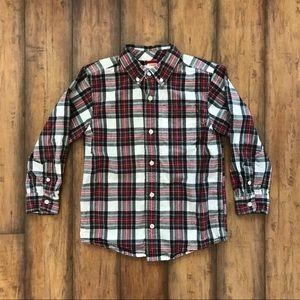 Gymboree Red Plaid Button Down Shirt